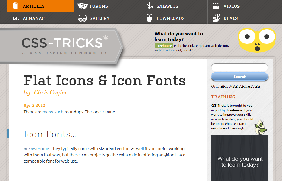 Flat Icons and Icon Fonts