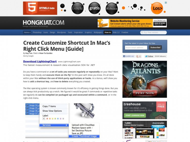 Create Customize Shortcut In Mac's Right Click Menu [Guide]