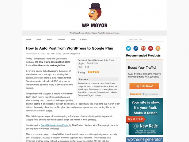 How to Auto Post from WordPress to Google Plus