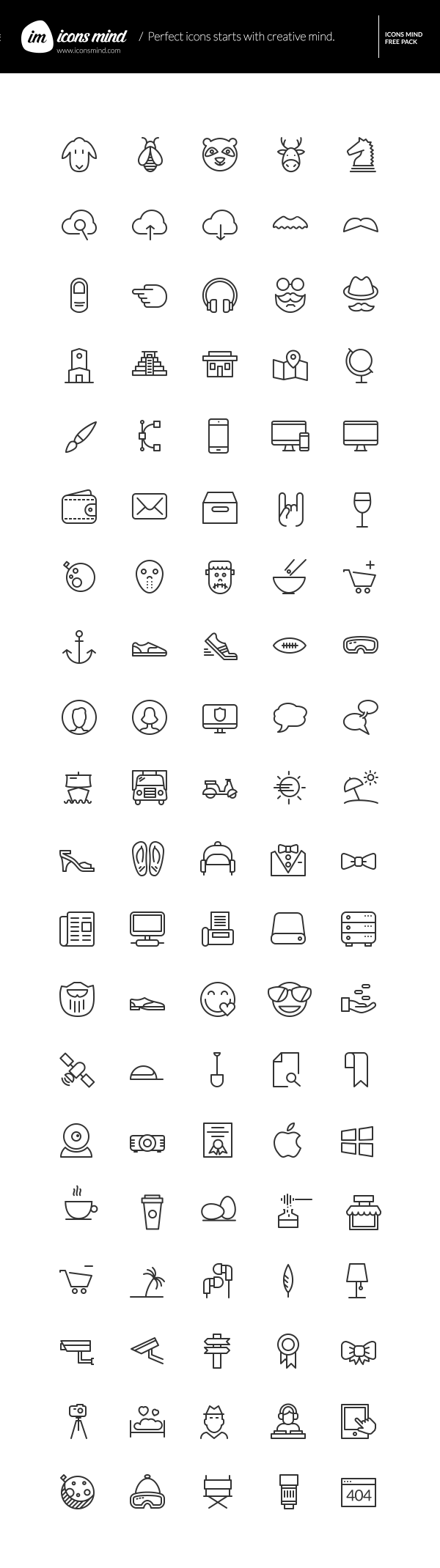 Icons Mind – 100 Free Vector Icons