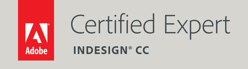 Certified Expert InDesign CC Badge