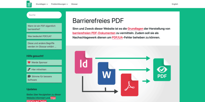 Screenshot von accessible-pdf.info