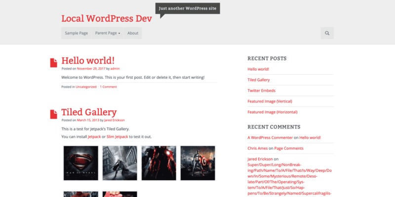 AlbinoMouse WordPress Theme. Screenshot.